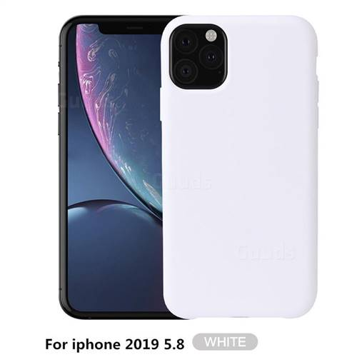 Howmak Slim Liquid Silicone Rubber Shockproof Phone Case Cover for iPhone XI 2019 (5.8 inch) - White