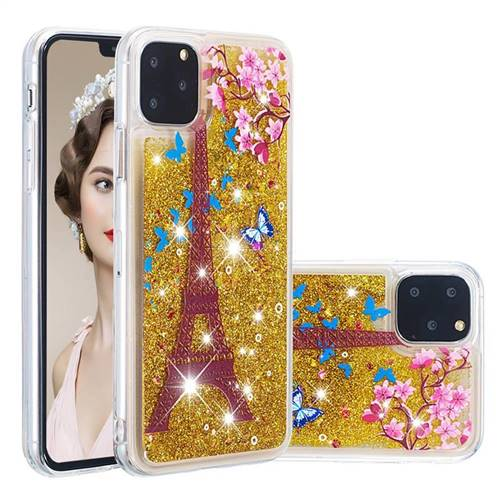 Golden Tower Dynamic Liquid Glitter Quicksand Soft TPU Case for iPhone 11 Pro (5.8 inch)