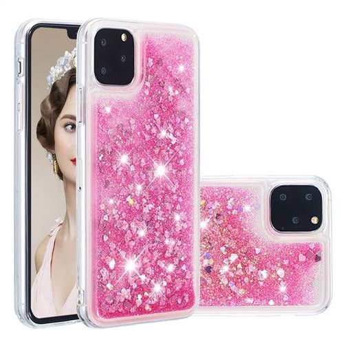 Dynamic Liquid Glitter Quicksand Sequins TPU Phone Case for iPhone 11 Pro (5.8 inch) - Rose
