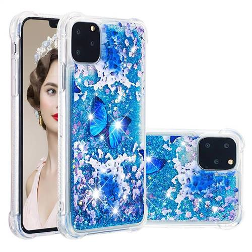 Flower Butterfly Dynamic Liquid Glitter Sand Quicksand Star TPU Case for iPhone 11 Pro (5.8 inch)