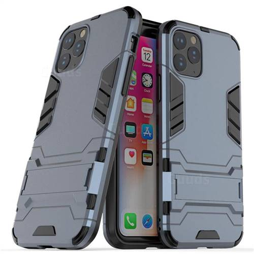 Armor Premium Tactical Grip Kickstand Shockproof Dual Layer Rugged Hard Cover for iPhone 11 Pro (5.8 inch) - Navy