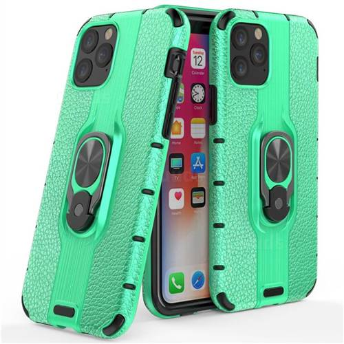 Alita Battle Angel Armor Metal Ring Grip Shockproof Dual Layer Rugged Hard Cover for iPhone 11 Pro (5.8 inch) - Green