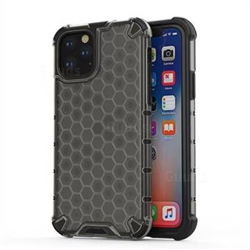 Honeycomb TPU + PC Hybrid Armor Shockproof Case Cover for iPhone 11 Pro (5.8 inch) - Gray