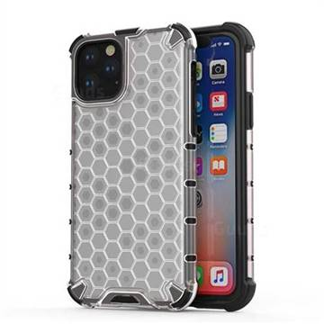 Honeycomb TPU + PC Hybrid Armor Shockproof Case Cover for iPhone 11 Pro (5.8 inch) - Transparent