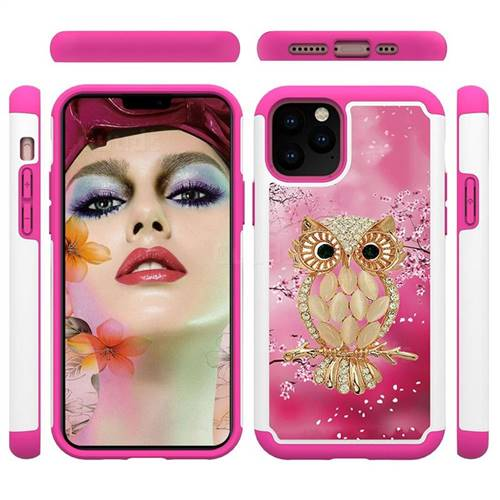 Seashell Cat Shock Absorbing Hybrid Defender Rugged Phone Case Cover for iPhone 11 Pro (5.8 inch)