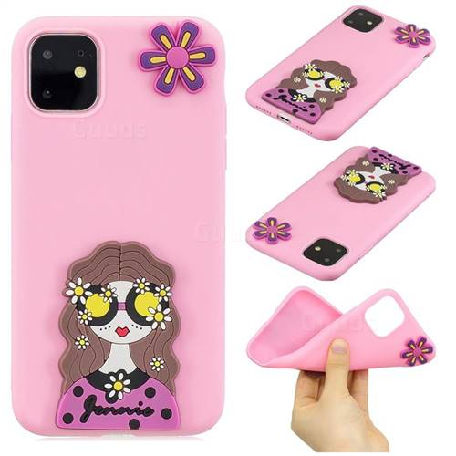 Violet Girl Soft 3D Silicone Case for iPhone 11 Pro (5.8 inch)