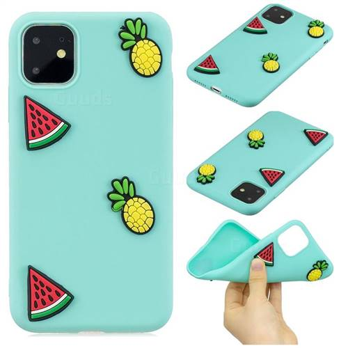 Watermelon Pineapple Soft 3D Silicone Case for iPhone 11 Pro (5.8 inch)