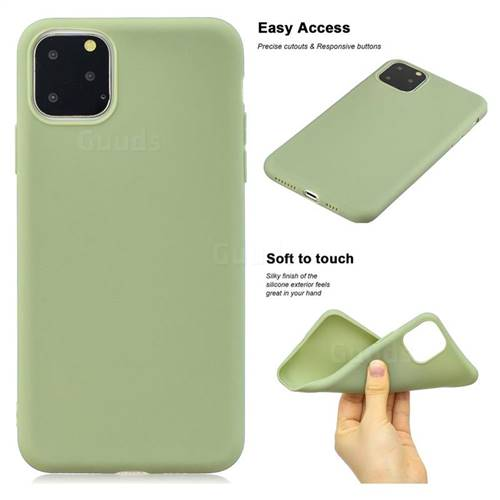 Soft Matte Silicone Phone Cover for iPhone 11 Pro (5.8 inch) - Bean Green