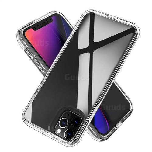 Transparent 2 in 1 Drop-proof Cell Phone Back Cover for iPhone 11 Pro (5.8 inch)