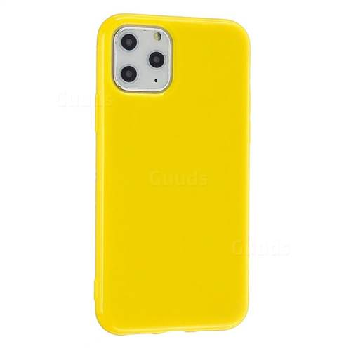 2mm Candy Soft Silicone Phone Case Cover for iPhone 11 Pro (5.8 inch) - Yellow