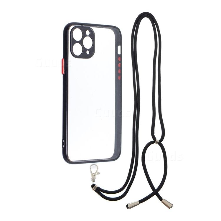 Necklace Cross-body Lanyard Strap Cord Phone Case Cover for iPhone 11 Pro (5.8 inch) - Black