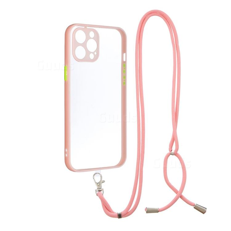 Necklace Cross-body Lanyard Strap Cord Phone Case Cover for iPhone 11 Pro (5.8 inch) - Pink