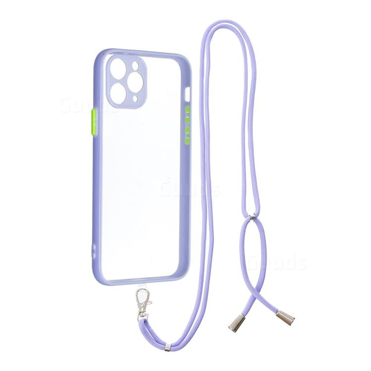 Necklace Cross-body Lanyard Strap Cord Phone Case Cover for iPhone 11 Pro (5.8 inch) - Purple