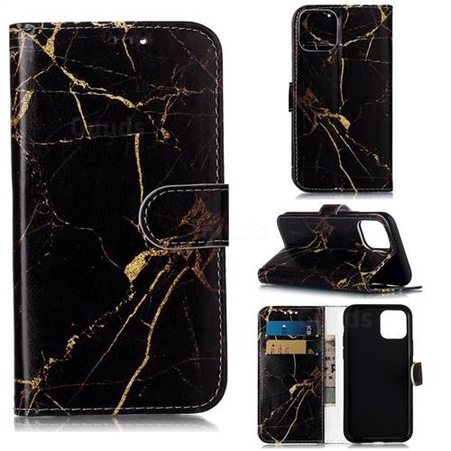 Black Gold Marble PU Leather Wallet Case for iPhone 11 Pro (5.8 inch)