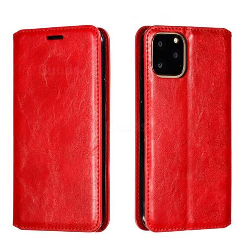 Retro Slim Magnetic Crazy Horse PU Leather Wallet Case for iPhone 11 Pro (5.8 inch) - Red