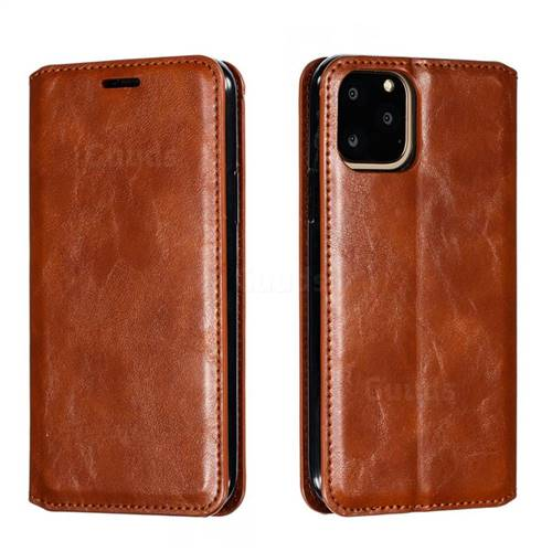 Retro Slim Magnetic Crazy Horse PU Leather Wallet Case for iPhone 11 Pro (5.8 inch) - Brown
