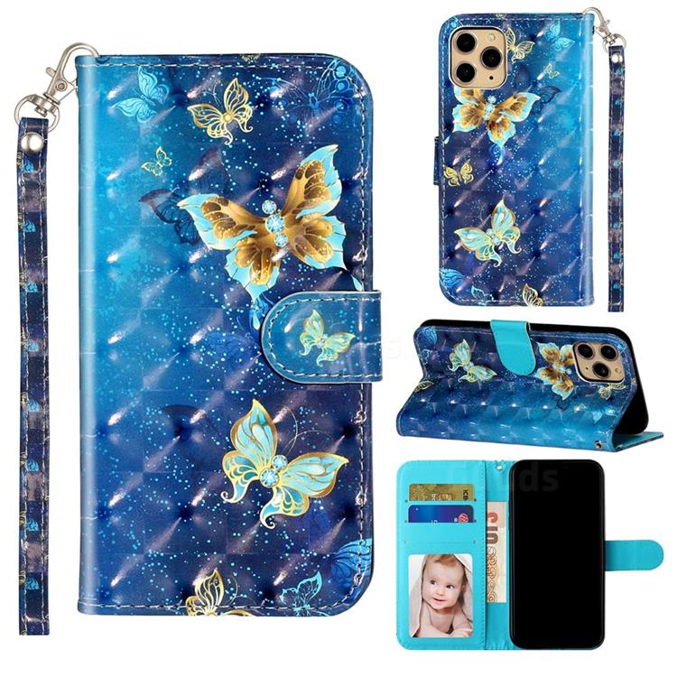 Rankine Butterfly 3D Leather Phone Holster Wallet Case for iPhone 11 Pro (5.8 inch)