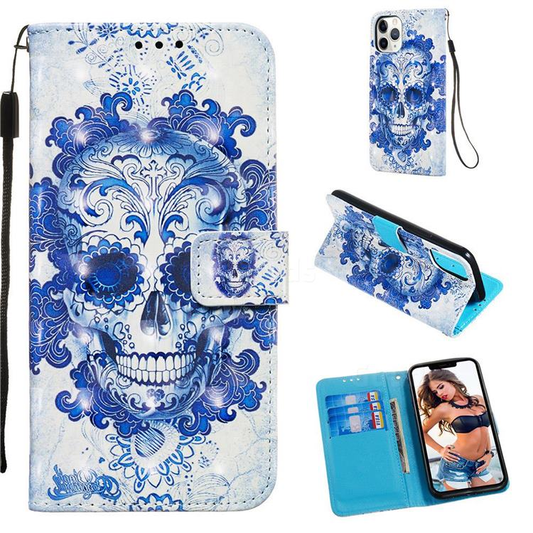 Cloud Kito 3D Painted Leather Wallet Case for iPhone 11 Pro (5.8 inch)