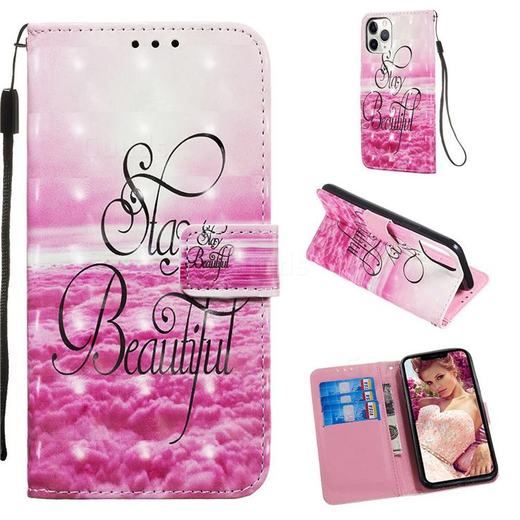Beautiful 3D Painted Leather Wallet Case for iPhone 11 Pro (5.8 inch)