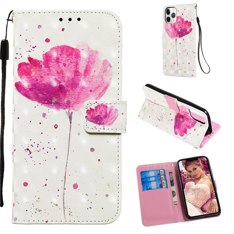 Watercolor 3D Painted Leather Wallet Case for iPhone 11 Pro (5.8 inch)