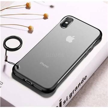 Transparent Matte Non-Slip Anti-Scratch no Fingerprint Bare Metal Sense Case for iPhone XS Max (6.5 inch) - Black