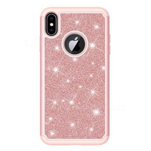 iphone xs case rose gold sparkle