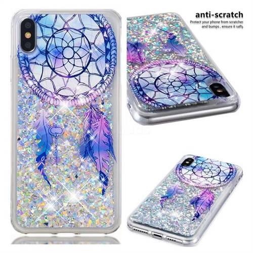 Fantasy Wind Chimes Dynamic Liquid Glitter Quicksand Soft TPU Case for iPhone XS Max (6.5 inch)