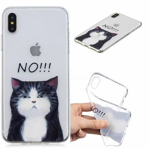No Cat Clear Varnish Soft Phone Back Cover for iPhone XS Max (6.5 inch)
