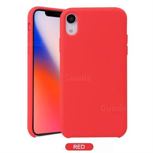 Howmak Slim Liquid Silicone Rubber Shockproof Phone Case Cover for iPhone XS Max (6.5 inch) - Red