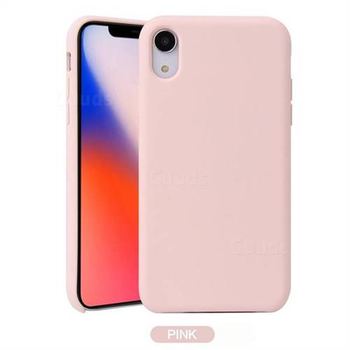 Howmak Slim Liquid Silicone Rubber Shockproof Phone Case Cover for iPhone XS Max (6.5 inch) - Pink
