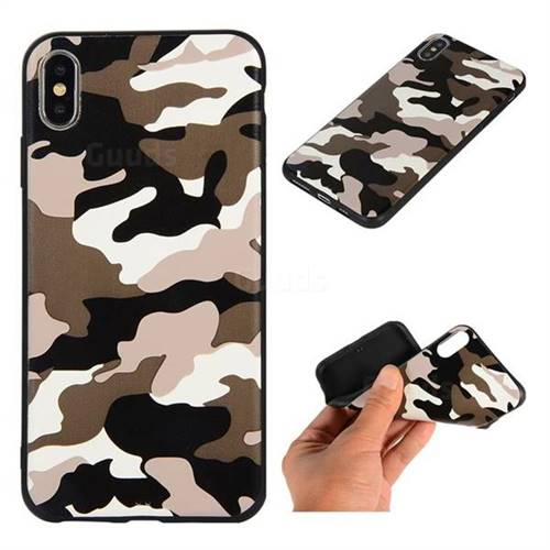 Camouflage Soft TPU Back Cover for iPhone XS Max (6.5 inch) - Black White