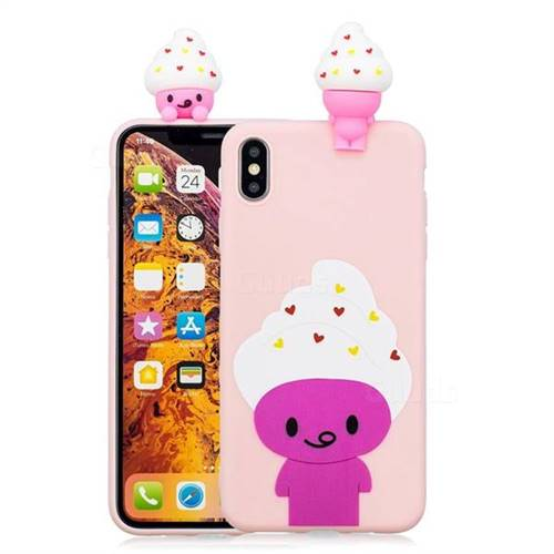 official photos fc4f1 adc58 Ice Cream Man Soft 3D Climbing Doll Soft Case for iPhone XS Max (6.5 inch)