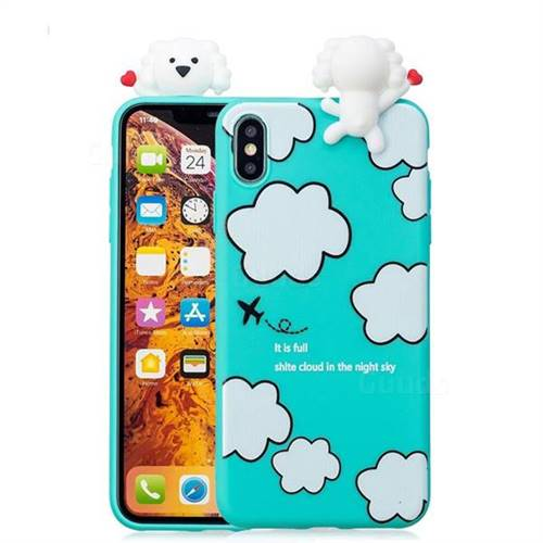 new product 4d6a1 a584c Cute Cloud Girl Soft 3D Climbing Doll Soft Case for iPhone XS Max (6.5 inch)
