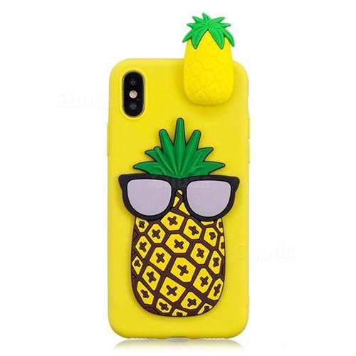 check out e9e3f f0c54 Big Pineapple Soft 3D Climbing Doll Soft Case for iPhone XS Max (6.5 inch)