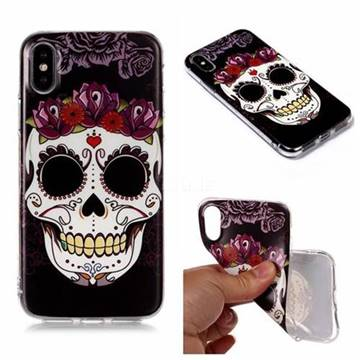 Flowers Skull Matte Soft TPU Back Cover for iPhone XS Max (6.5 inch)