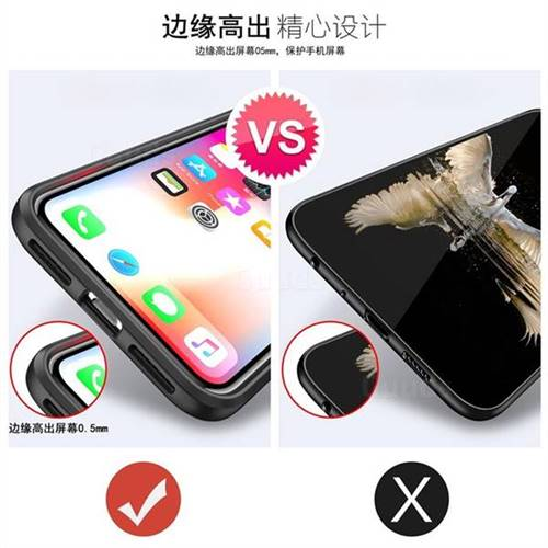 271b2d0e892cef Acrylic Glass Carbon Invisible Ring Holder Phone Cover for iPhone XS Max  (6.5 inch) - Black - Back Cover - Guuds