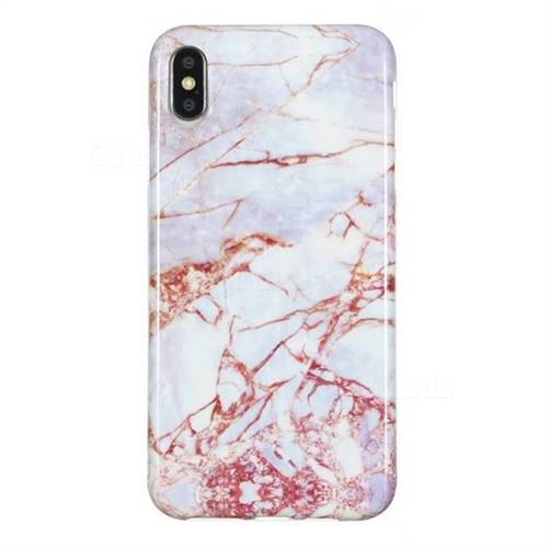 4a70fe07ea White Stone Marble Clear Bumper Glossy Rubber Silicone Phone Case for iPhone  XS Max (6.5 inch) - Back Cover - Guuds