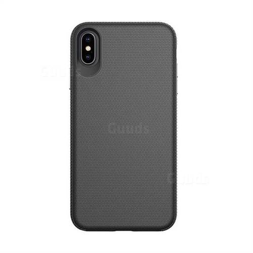 lowest price 37e1c 8c025 Triangle Texture Shockproof Hybrid Rugged Armor Defender Phone Case for  iPhone XS Max (6.5 inch) - Black