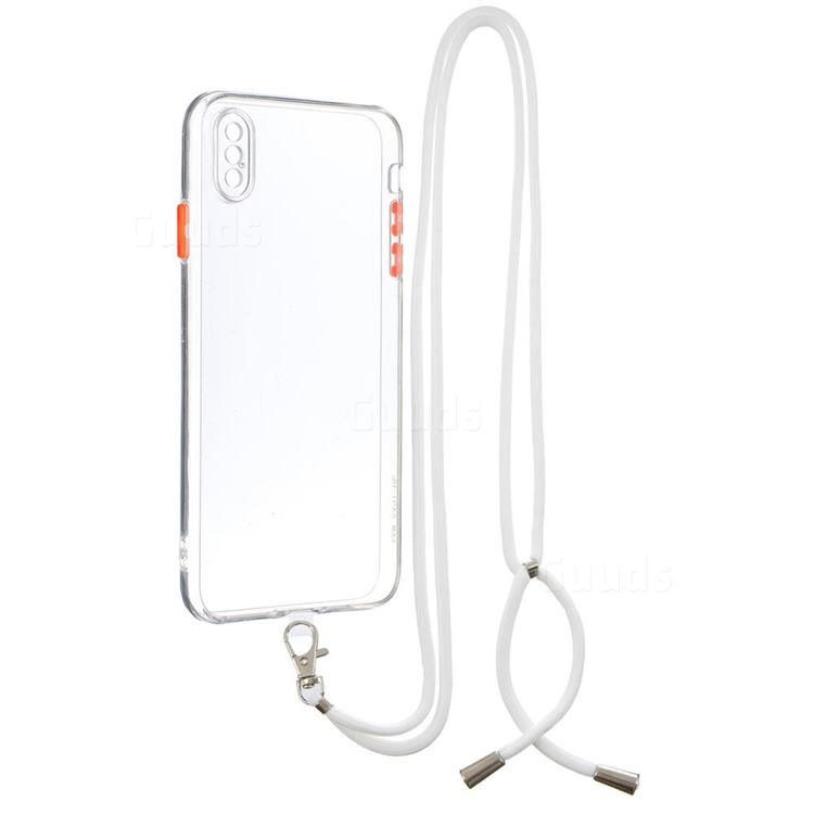 Necklace Cross-body Lanyard Strap Cord Phone Case Cover for iPhone XS Max (6.5 inch) - Transparent
