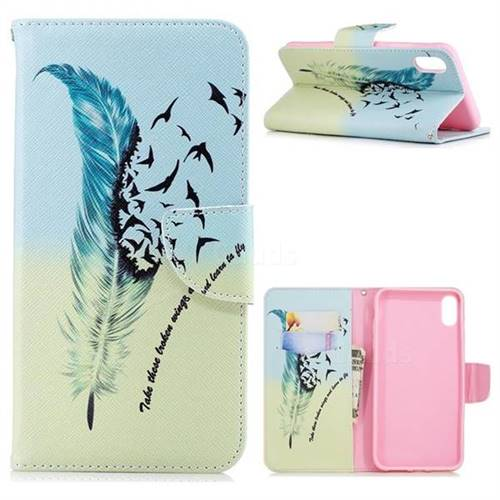 Feather Bird Leather Wallet Case for iPhone XS Max (6.5 inch)