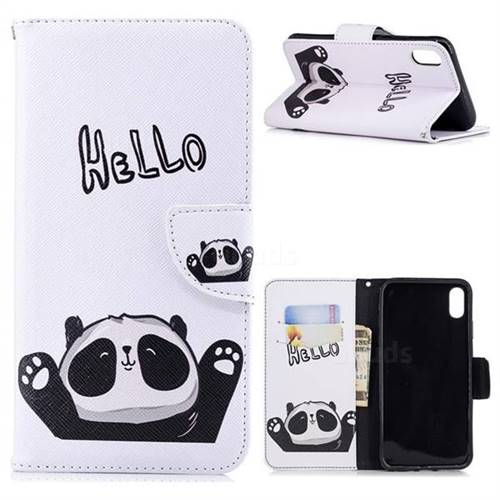 Hello Panda Leather Wallet Case for iPhone X Plus (6.5 inch)