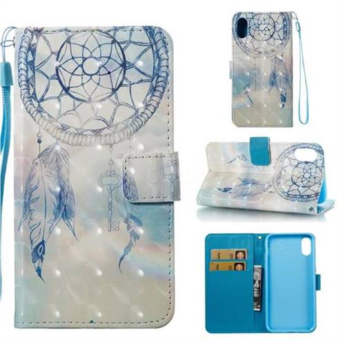 Fantasy Campanula 3D Painted Leather Wallet Case for iPhone XS Max (6.5 inch)