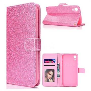 Glitter Shine Leather Wallet Phone Case for iPhone XS Max (6.5 inch) - Pink