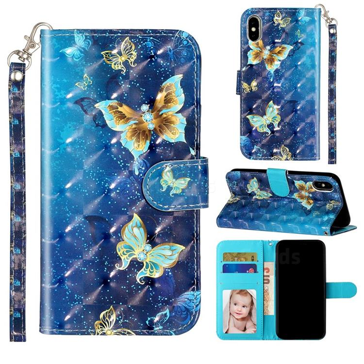 Rankine Butterfly 3D Leather Phone Holster Wallet Case for iPhone XS Max (6.5 inch)