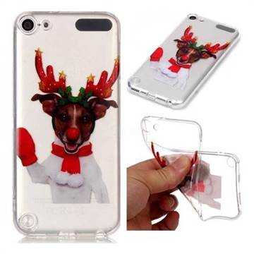 Red Gloves Elk Super Clear Soft TPU Back Cover for iPod Touch 5 6