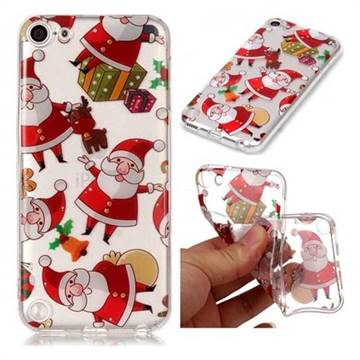 Santa Claus Super Clear Soft TPU Back Cover for iPod Touch 5 6