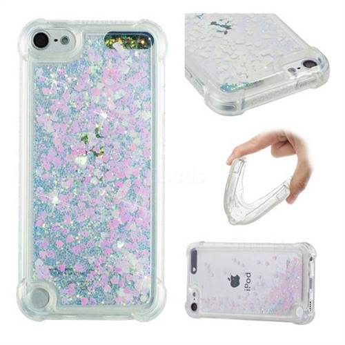 Dynamic Liquid Glitter Sand Quicksand Star TPU Case for iPod Touch 5 6 - Pink