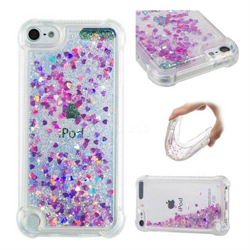 Dynamic Liquid Glitter Sand Quicksand Star TPU Case for iPod Touch 5 6 - Rose