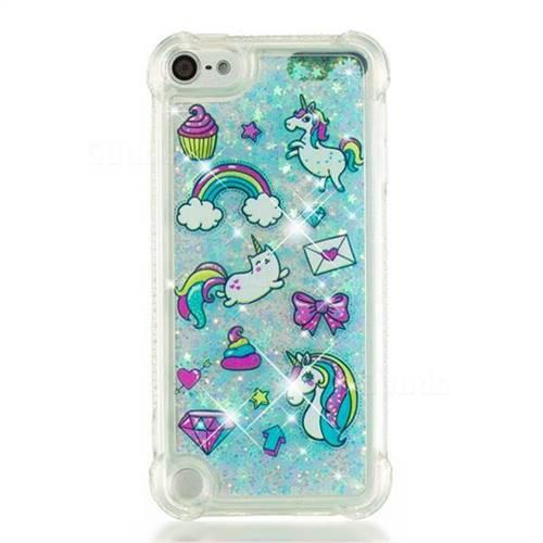 wholesale dealer d07d6 26316 Fashion Unicorn Dynamic Liquid Glitter Sand Quicksand Star TPU Case for  iPod Touch 5 6