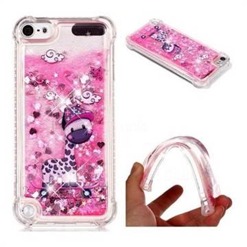 Skateboard Deer Dynamic Liquid Glitter Sand Quicksand Star TPU Case for iPod Touch 5 6